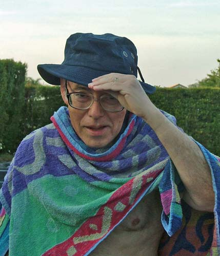 Sam Finkelstein with towel